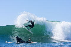 Matt Zehnder surfing in Santa Cruz, California Stock Photo