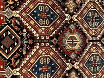 Matta konst Målningen visar ett fragment av en härlig matta med orientaliska modeller arkivbild