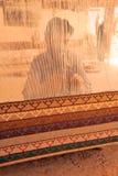 Matta som väver vid handen. Jaipur Indien. Royaltyfria Bilder