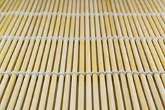 matta sushi för bambu royaltyfri fotografi