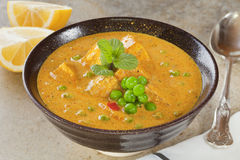 Mattar Panir Indian Cheese and Peas Curry Stock Photos
