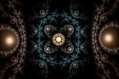 mattblått för abstrakt begrepp 3d Royaltyfria Bilder