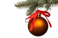 Matte christmas ball. Stock Photos