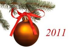 Matte christmas ball. Stock Images