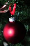 Matte czerwony wakacyjny ornament Obrazy Royalty Free