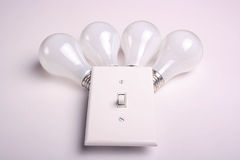 Matte electric bulbs Stock Images