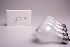 Matte electric bulbs Stock Photos