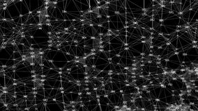 Matte för alfabetisk för nätverk för data för plexus för siffror för abstrakt polygon för rörelse digital slumpmässig vektor illustrationer
