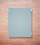 Matte glass plate on red brick Stock Photo
