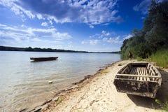 Matte im Fluss Lizenzfreies Stockfoto