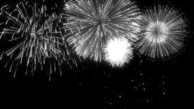 Matte Isolated Fireworks de bouclage illustration stock