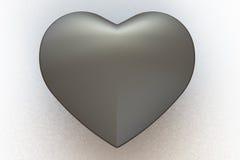 Matte Metal Heart Stock Images