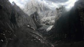 Matte Painting Landscapes y las montañas exclusivos en otro planeta les gusta Marte stock de ilustración