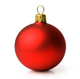 Matte red Christmas ball Royalty Free Stock Photos