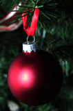 Matte red holiday ornament Royalty Free Stock Images