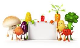 Mattecken - grönsaker vektor illustrationer