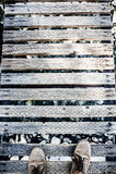 Matten auf Brücke Lizenzfreies Stockbild