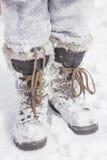 Matten im Schnee Stockfotos