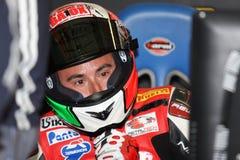 Matteo Baiocco Ducati 1098R Barni che corre squadra fotografie stock libere da diritti