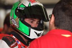 Matteo Baiocco Ducati 1098R Barni che corre squadra immagini stock libere da diritti