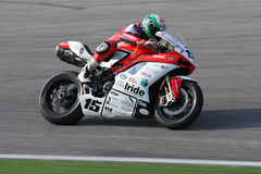 Matteo Baiocco Ducati 1098R Barni Racing Team royalty free stock images