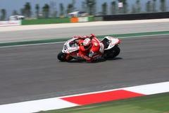 Matteo Baiocco Ducati 1098R Barni Racing Team. Matteo Baiocco - Ducati 1098R - Barni Racing Team 2011 Imola SBK superbike championship stock image