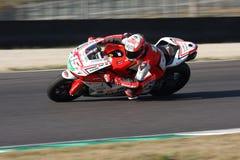 Matteo Baiocco - Ducati 1198R - corsa di Barni immagini stock libere da diritti