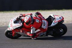 Matteo Baiocco - Ducati 1198R - het Rennen Barni Royalty-vrije Stock Foto