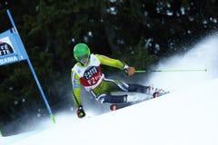 Matteo Canins in Audi Fis Alpine Skiing World-de Reus van Kopmen's royalty-vrije stock fotografie