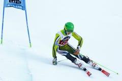 Matteo Canins in Audi Fis Alpine Skiing World-de Reus van Kopmen's royalty-vrije stock foto's