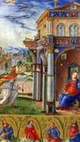 Matteo DA Μιλάνο: μικρογραφίες από την ιερή σύνοψη του Alfonso Ι δ ` Este: Annunciation της Virgin Mary Στοκ Φωτογραφία