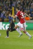 Matteo Darmian Champion League FC Brügge - Manchester United Lizenzfreie Stockfotos