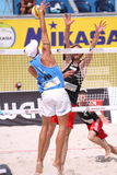 Matteo Ingrosso - beach volleyball. Matteo Ingrosso from Italy in the Patria direct open beach volleyball tournament within the Swatch beach volleyball tour held Royalty Free Stock Photography