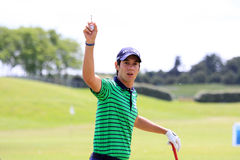 Matteo Manassero au golf français ouvrent 2013 Photos stock