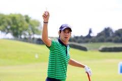 Matteo Manassero bij het Franse golf opent 2013 Stock Foto's