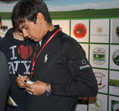 Matteo Manassero Fair exibition Golf Verona 2011 Stock Photos