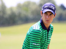 Matteo Manassero at The French golf Open 2013 Royalty Free Stock Image