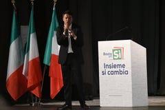 Matteo Renzi в Siracusa, 15-ое ноября 2016 Стоковое Изображение