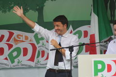 Matteo Renzi, Italian politician. Original photo Matteo Renzi, Italy Royalty Free Stock Images