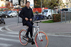 Matteo renzi,italy. Chairman of the Board , Matteo Renzi , political , Florence , pontassieven,bicycle Stock Photos