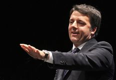 Matteo renzi,italy. Chairman of the Board , Matteo Renzi , political , Florence , pontassieven,bicycle Royalty Free Stock Photo