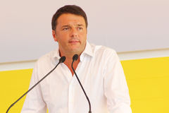 Matteo Renzi, Italy. Original photo by Matteo Renzi from Bologna, Italy, 2014 stock photography