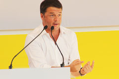 Matteo Renzi, Italy. Original photo by Matteo Renzi from Bologna, Italy, 2014 Royalty Free Stock Photo