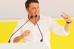 Matteo Renzi, Italy. Original photo by Matteo Renzi from Bologna, Italy, 2014 royalty free stock photos