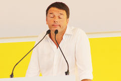 Matteo Renzi, Italy. Original photo by Matteo Renzi from Bologna, Italy, 2014 stock photo