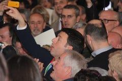 Matteo Renzi national premier last day as Florence Stock Image