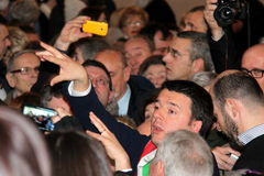 Matteo Renzi national premier last day as Florence Stock Photography