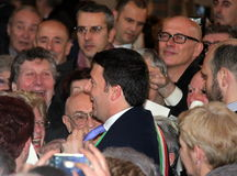 Matteo Renzi national premier, last day as Florence Stock Images