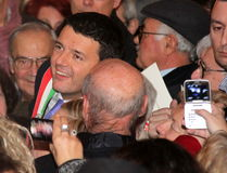 Matteo Renzi national premier, last day as Florence Royalty Free Stock Photo