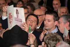 Matteo Renzi national premier, last day as Florence Stock Photos